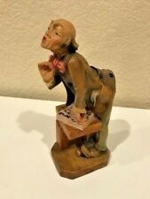 "Vintage German Wood Carving -Teacher - Gg Lang Sel Erben Oberammergau 8"" Rare!"
