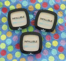 Lot of 3 L'Oreal Infallible Pro Glow Longwear Pressed Powder #24 Natural Beige