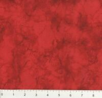 "108"" EXTRA WIDE Quilt Backing BTY 100% Cotton Marble Tonal Bright Red"