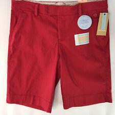 Dockers Mid Rise Curvy Fit Womens Shorts Jaelynn Bermuda Cotton Spandex Size 10