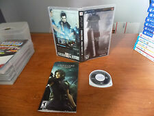 Crisis Core: Final Fantasy VII limited edition metallic cover CIB Sony PSP