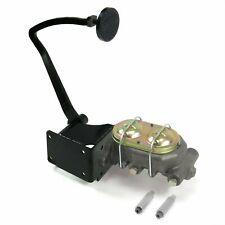 37-39 Chevy Manual Brake Pedal kit Drum/Drum3in Blk Pad hot rods street master