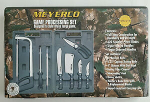MEYERCO 10 Piece Game Hunting Processing Set MBDP2 In Form Fitted Case New