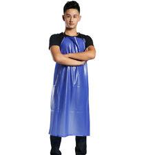 Bib Apron PVC Plastic Solid Pinafore Cooker Kitchen Catering BBQ Labor Work Wear