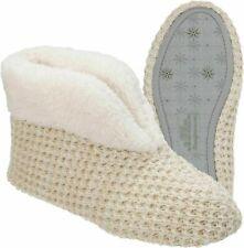 "Dearfoam Slippers Oatmeal Heather ""Hand Knitted Style""  SM 5-6,  XL 11-12 NEW"
