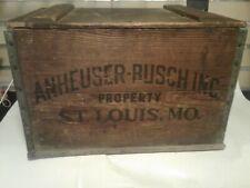 Vintage Budweiser Wooden Crate Box Centennial 1876-1976 Anheuser Busch Beer