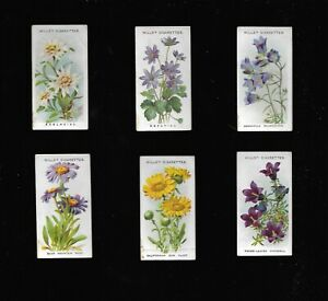 Alpine Flowers 1913 Wills's Cigarette Cards - Choice of Cards