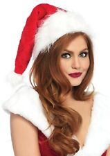 Santa Fur Hat Plush Delux Leg Avenue Red Fur