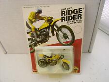 """New listing 1980 Zee Diecast 3"""" Long Suzuki Rm125 Dirt Bike Ridge Rider New On Card"""