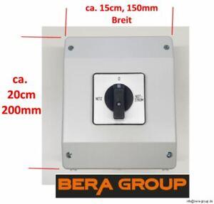 63A 400V Notstromumschalter Netzumschalter Notstrom Netz Last Umschalter Aufputz