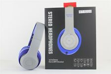 Over-the-Head Stereo Bluetooth Headset for iPhone, All Smartphones, Blue