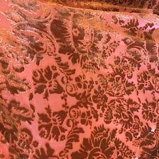 Orange Imperial Sheer Cut Velvet By the yard