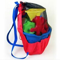 Kids Beach Toys Mesh Storage Bag Sand Shell Portable Tote Carry Pouch Children