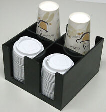 Cup and lid dispenser Holder coffee Caddy Cup Counter Rack breakroom organizer