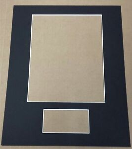 3 - CUSTOM CUT 11X14 MAT FOR 8X10 PHOTO & 3X5 INDEX CARD (YOU PICK THE COLORS)