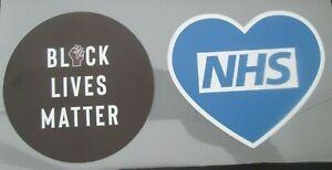 *UK STOCK* NHS and Black Lives Matter Patch for Football Shirt Premier V2