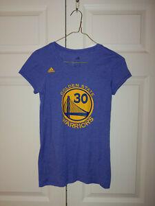 Women Adidas Golden State Warriors NBA Curry #30 Short Sleeve T Shirt Size S