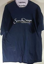 San Diego Chargers Navy Blue Shirt Top Adult XL Used Stains