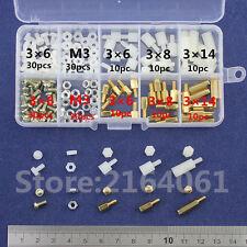 M3 Brass Nylon Spacer Standoff Screw Nut Male Female PCB Board Assortment Kit