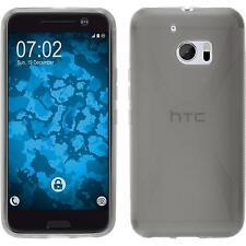 Htc 10 TPU funda cover X-style gris protector de pantalla