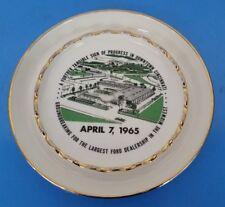 NOS Vintage Ford Dealership ASHTRAY PLAQUE Cincinnati 1965 Seabury & Company