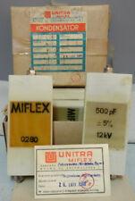 1 Pcs Miflex Unitra Vintage Teflon Capacitor High Voltage 500pf 5 12000v 12kv