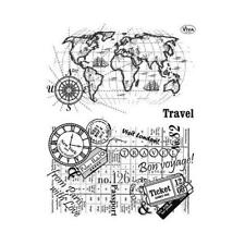 Viva Decor A5 Clear Silicone Stamps Set - Travel #110