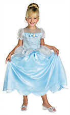 DISNEY CINDERELLA CLASSIC PRINCESS SILVER SHIMMERY BLUE GIRLS COSTUME SMALL 4-6