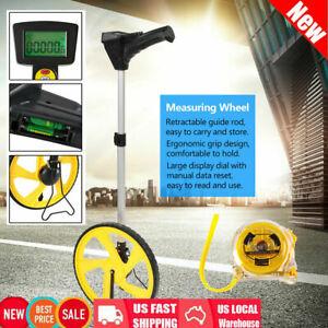 Digital Distance Measuring Wheel Measure Surveyors Builders Road Land +Tape +Bag