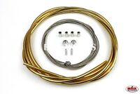 ProMX 5mm Lined BMX Brake Cable Set - Suit Front & Rear - Ano Gold
