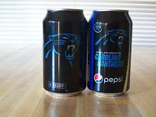 2 2016 Carolina Panthers Bud Light Pepsi 12 oz cans bottom open beer soda adult