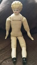 "Vintage Porcelain Head Doll With Sawdust Body-No Clothes 16"" long"