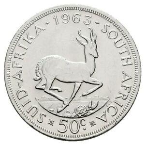 Südafrika 50 Cents 1963 fast stgl Rdf. Gewicht: 28,28g/500