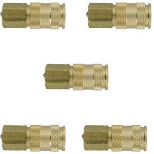 Milton 764 V-Style Hi-Flo Coupler Body - Brass, 1/4in. FNPT, 5 Pack