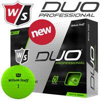 Wilson Staff Duo Professional Golf Balls Dozen Pack Green - NEW! 2020