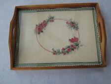 Tray framed needlework