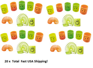 """20 Small Slinky Spring Coil Magical Toy Colorful Smile Children Kid Party Toy 2"""""""