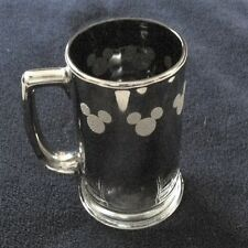 Disney Mickey Mouse Smoked Glass Stein-Type Beer Mug w/ Metallic Mouse Ears