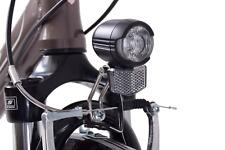 Front Centre Fork Dynamo Light Bike E-Bike Cycle LED Headlight Headlamp Black