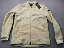 Under Armour Mens Beige UA Unstoppable Swacket Full Zip Bomber Jacket NWT S $110