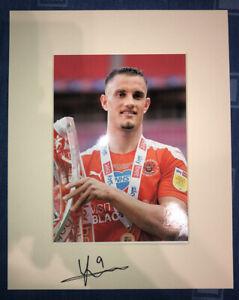 JERRY YATES Hand Signed 2021/22 Blackpool FC Photo Mount Display, COA B