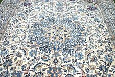 £8500 John Lewis Persian Nain hand woven silk & wool rug 350 x 240 cm Antique