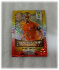 2014 Panini Prizm Yellow Red Pulsar World Cup Stars Wesley Sneijder #22