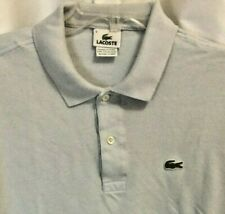 Lacoste Vintage Mens Size 6 Light Blue Cotton Knit Regular Fit Polo Shirt  0501