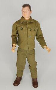 VINTAGE HASBRO 1964 GI JOE ACTION FIGURE ARMY BROWN HAIR & BOOTS - NICE!