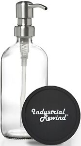 Clear Soap Dispenser with Stainless Metal Soap Pump 16oz Soap Lotion Dispenser