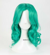 Sailor Moon Neptune Kaiou Michiru Wig Styled Long Green Wavy Cosplay Wig + Cap