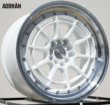 AODHAN AH04 17X9 5X100/114.3 ET35 WHITE FITS WRX CELICA CIVIC RSX COROLLA
