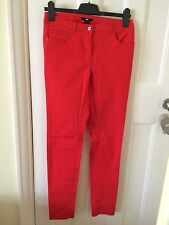 H&M Red/Blood Red Orange Skinny Jeans Euro Size 36/UK 10 Brand New with Tag
