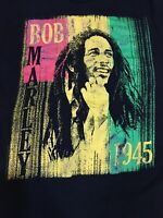 AUTHENTIC VINTAGE Bob Marley Rap Concert T-Shirt VTG TEE Small Zion 1945 RARE